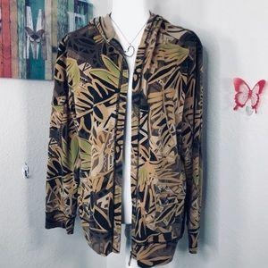 Zenergy by Chico's Sz 3 zippered hoodie